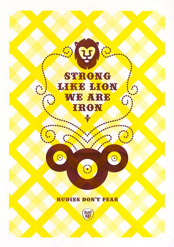 """2-tone Risoprint A3 // """"Rudies Don't Fear"""""""