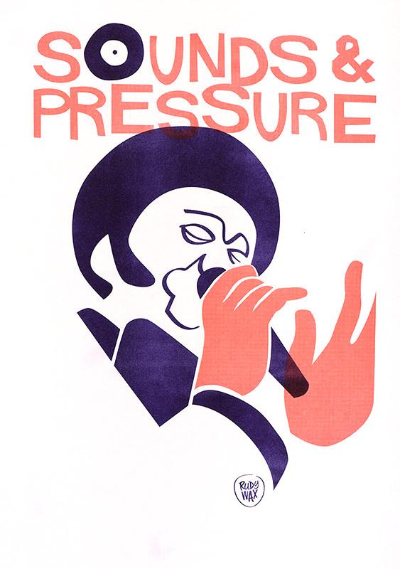 "2-tone Risoprint A3 // ""Sound & Pressure"""