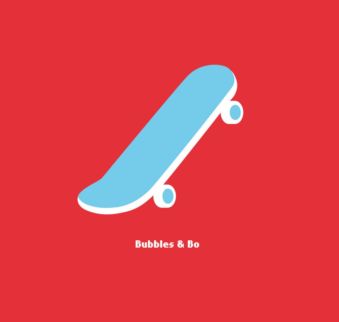 Illustratie // Bubbles & Bo Skateboard