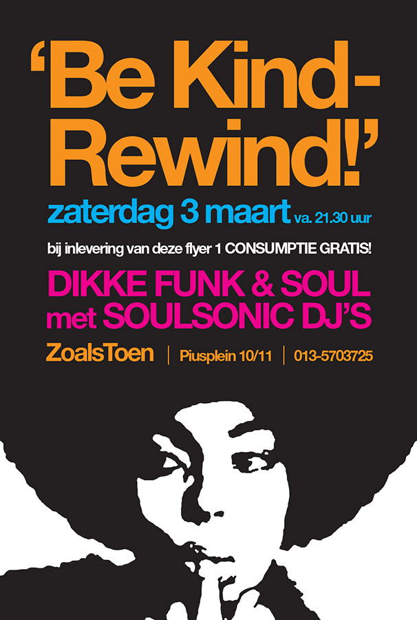 Flyer // Be Kind Rewind Soulsonic