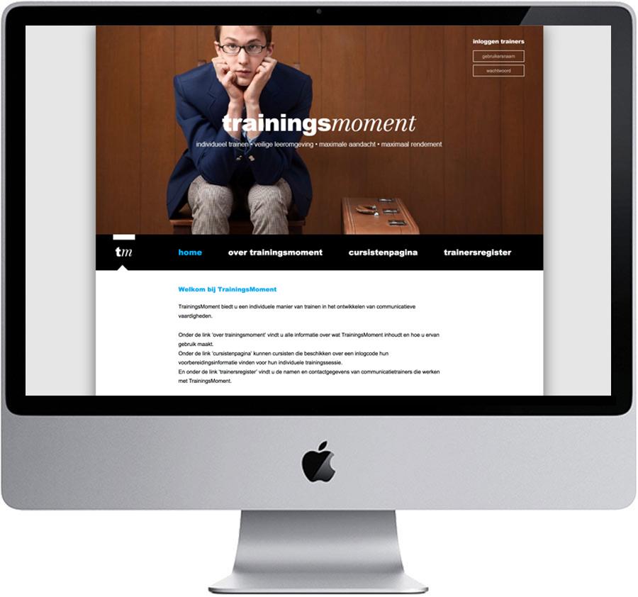 Website // Trainingsmoment (www.trainingsmoment.nl)