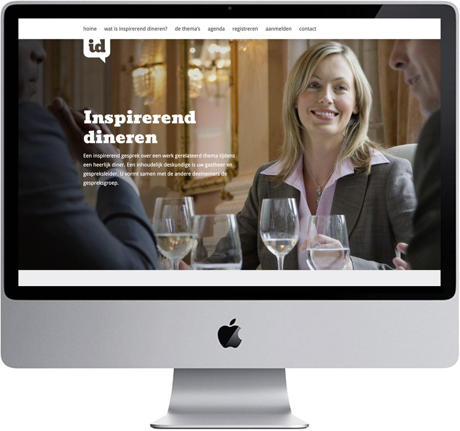 Website // Inspirerend Dineren (www.inspirerenddineren.nl)
